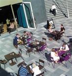 People enjoying the sunshine
