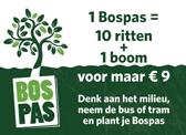 1 Bospas = 10 ritten + 1 boom
