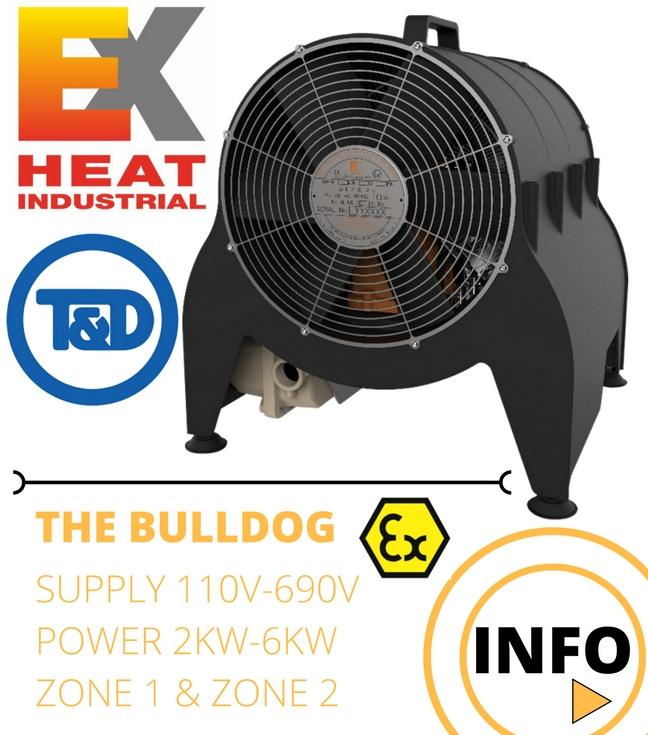 EXHEAT Bulldog - ATEX Hazardous Area Heaters