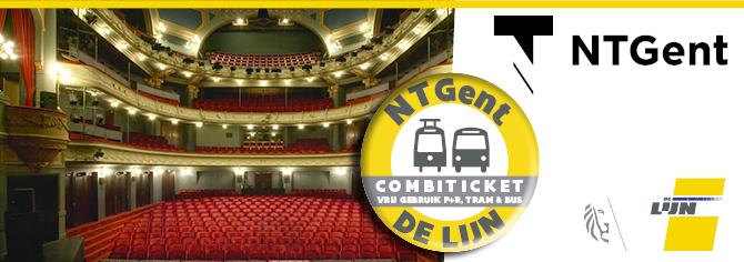 Combiticket NTGent en De Lijn: gratis vervoer naar het theater