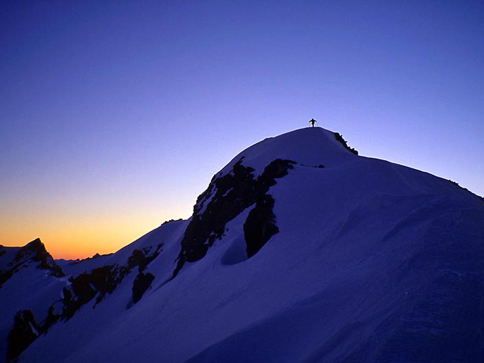 Sunset on the Spearhead Traverse