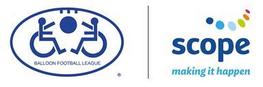 Balloon Football League and Scope logos