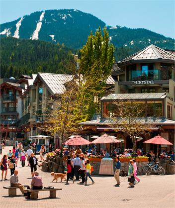 Whistler Village in the spring.