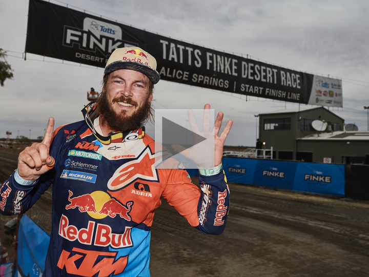 Toby Price rides into the history books at the Finke Desert Race