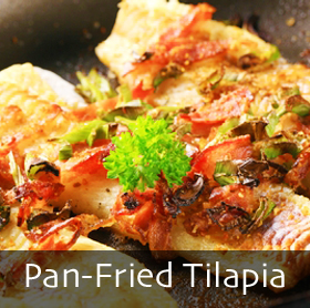 Pan-Fried Tilapia with Lemon Caper Sauce