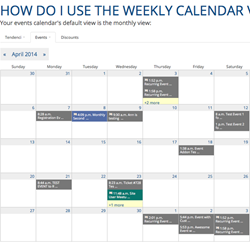 Event Calendar Screenshot
