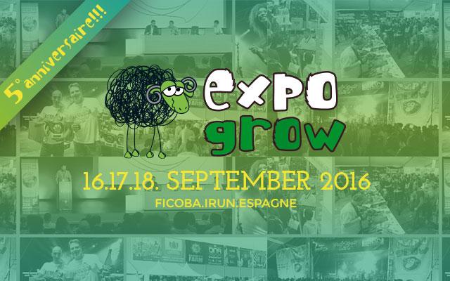 Logotype Expogrow 2016 : Bien plus q'une Foire du Chanvre
