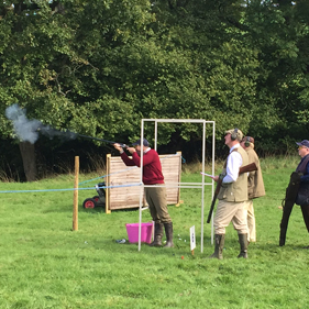 Image of clay pigeon shooting