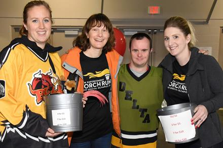 Delta Police Department members and SOBC – Delta athletes raising funds for SOBC