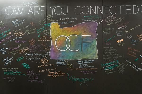 Chalkboard from the OCF annual luncheon