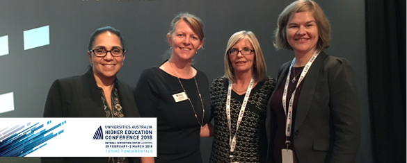 NCSEHE team at the Universities Australia Higher Education Conference 2018