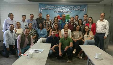 Colombia municipal workers launch national network