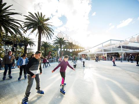 Ice-skating at Winterlight, Parramatta