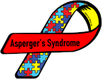 multi color puzzle piece ribbon for asperger's syndrome