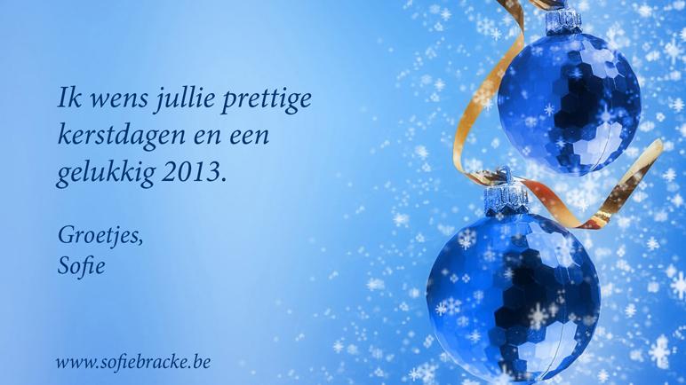 Sofie wenst u een gelukkig 2013