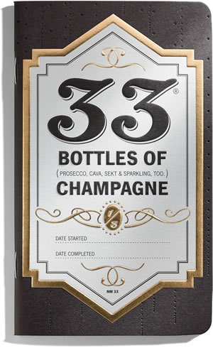 33 Champagnes Book with Gold Foil and Emboss
