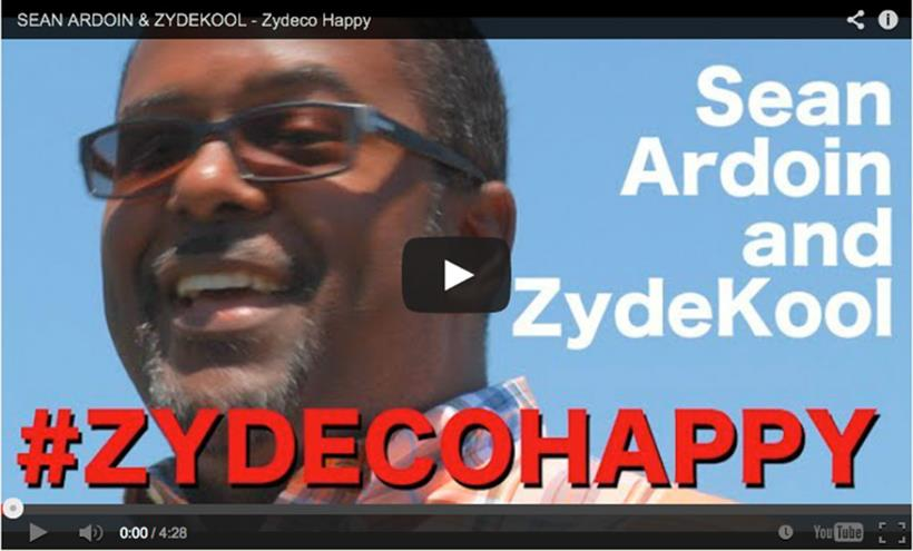 "Sean Ardoin and ZydeKool ""Happy"" video"
