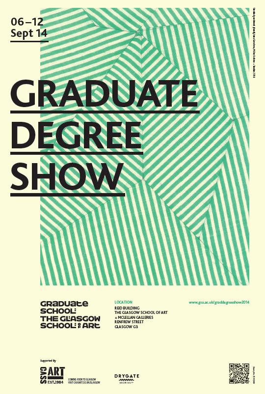 Image: Graduate Degree Show poster 2014, image Irina Gusakova, Fashion + Textiles