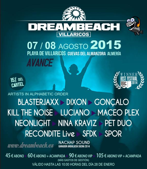 CabeceraDreambeachPRENSAavance_1.130205 Primer avance del cartel Dreambeach Villaricos