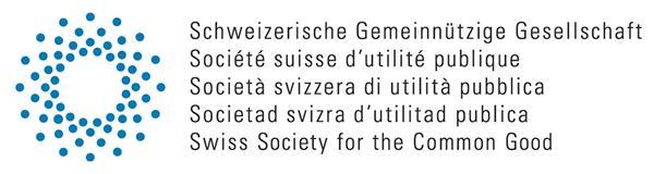 Website Schweizerische Gemeinnützige Gesellschaft