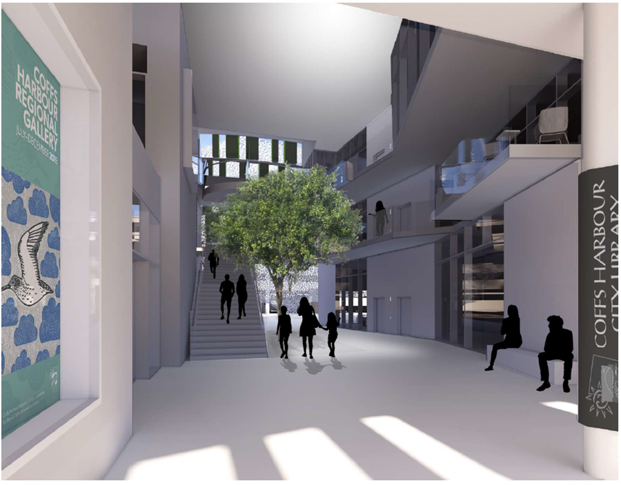 Scematic design - view from internal street