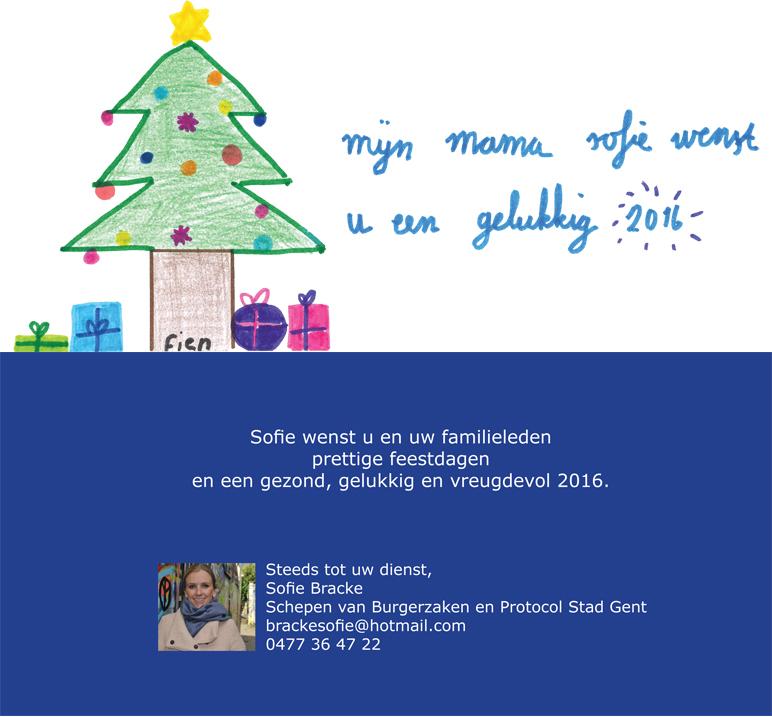Sofie wenst u een gelukkig 2016