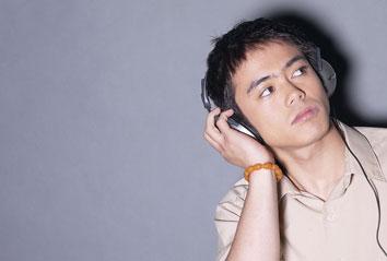 Image of child wearing headphones