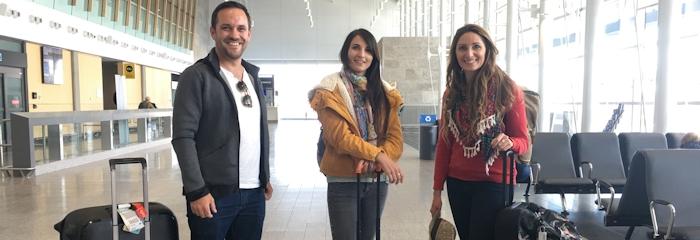 Blogueurs à l'aéroport de Québec