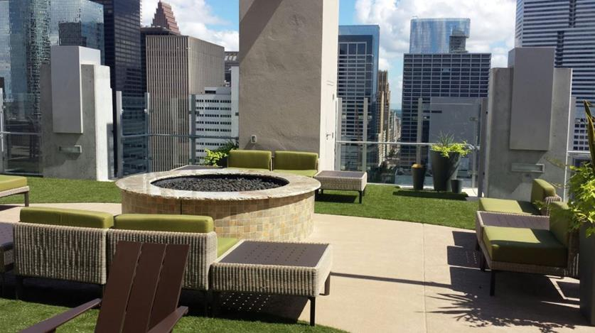 Rooftop patio in Houston