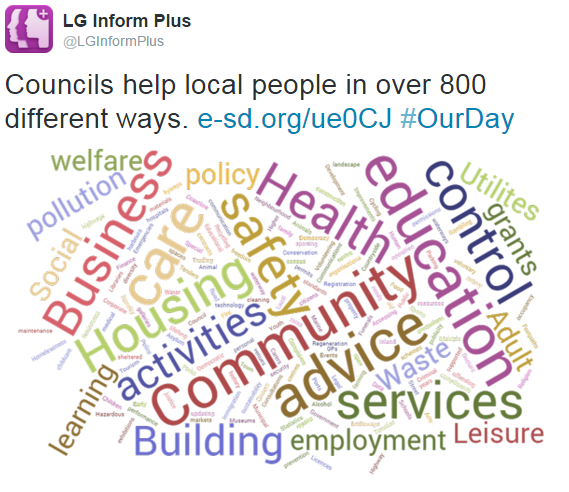 Councils provide over 800 services.
