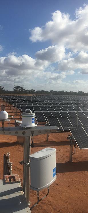 Skycam next to Solar Farm. Credit: Proa Analytics