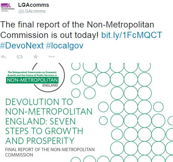 Devolution to non-metropolitan England.
