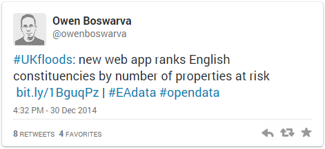 New web app ranks English constituencies by number of properties at risk