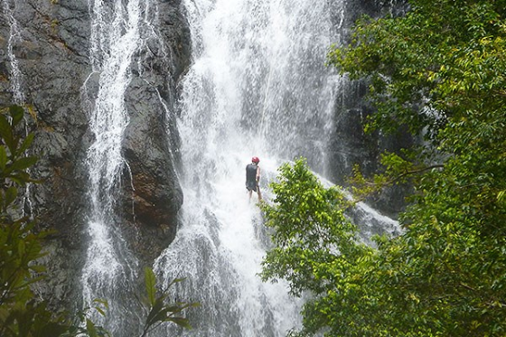 Waterfall Abseil by Dom Colvile
