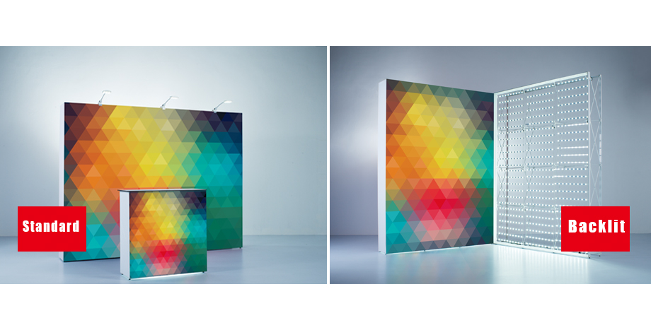TexFrame Fabric Pop-Up Backlit Display