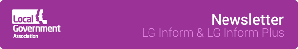 LG Inform & LG Inform Plus newsletter from the Local Government Association