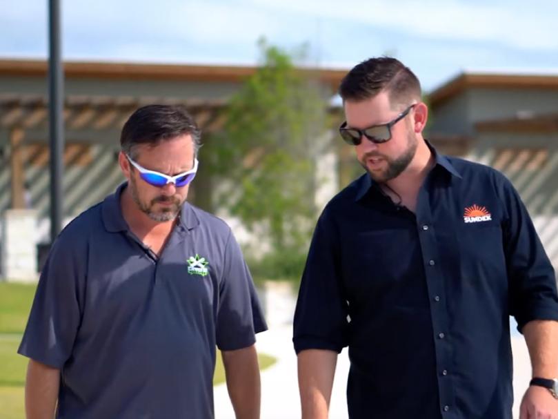 Joe Copeland and Scott Hubbard of SUNDEK discuss a recent project