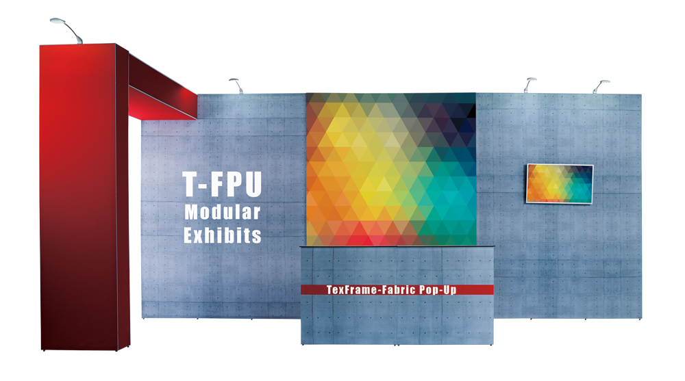 Hero Image of TexFrame Fabric Pop Up Modular Exhibits System