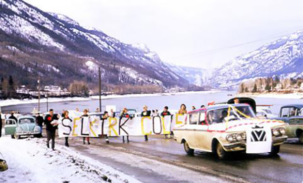 One of the highlights of the Homecoming weekend will be recognition of The Great Trek when the first Selkirk College students who started in temporary makeshift classes at Celgar walked to the new campus in January, 1967.