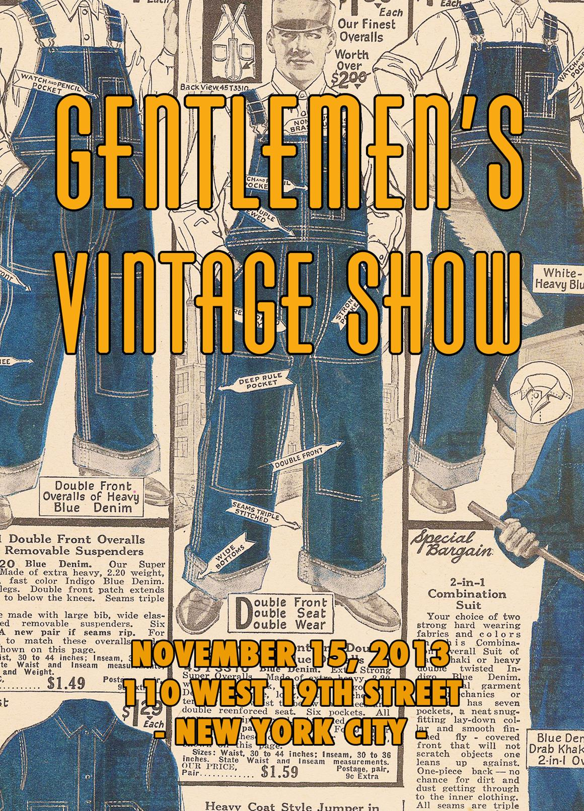 Gentlemen's Vintage Show and Sale