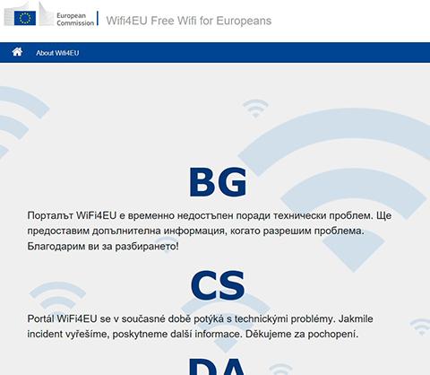Screenshot WiFi4EU Portal
