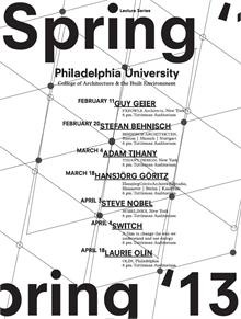 College of Architecture and the Built Environment Spring 2013 Lecture Series