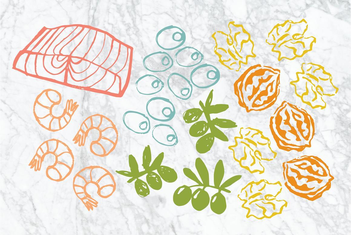 Mediterranean Diet Illustrations