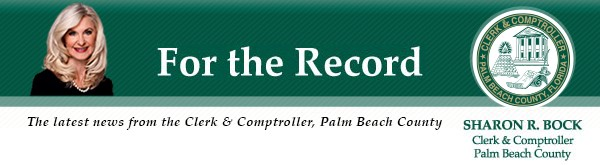 """Screenshot of mypalmbeachclerk.com with """"how can I help you?"""" in search box."""