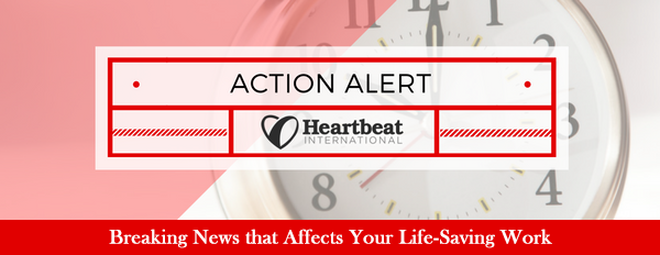 Action Alert from Heartbeat International