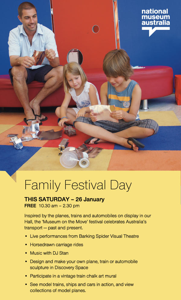 Help us celebrate Australia Day with a FREE family festival at the National Museum