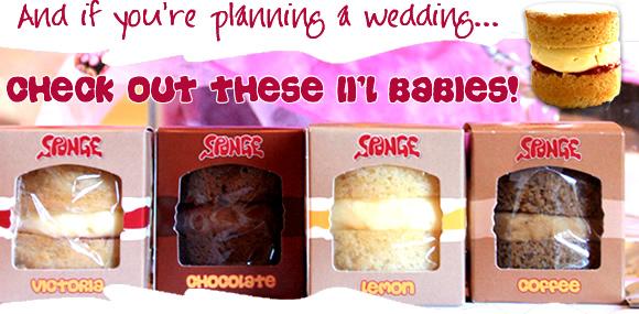 如果你计划婚礼,请查看这些Li'l婴儿!婴儿海绵婚礼有利于!