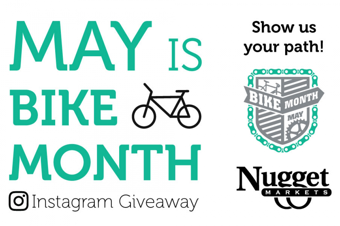 Nugget Markets May is Bike Month Instagram Giveaway