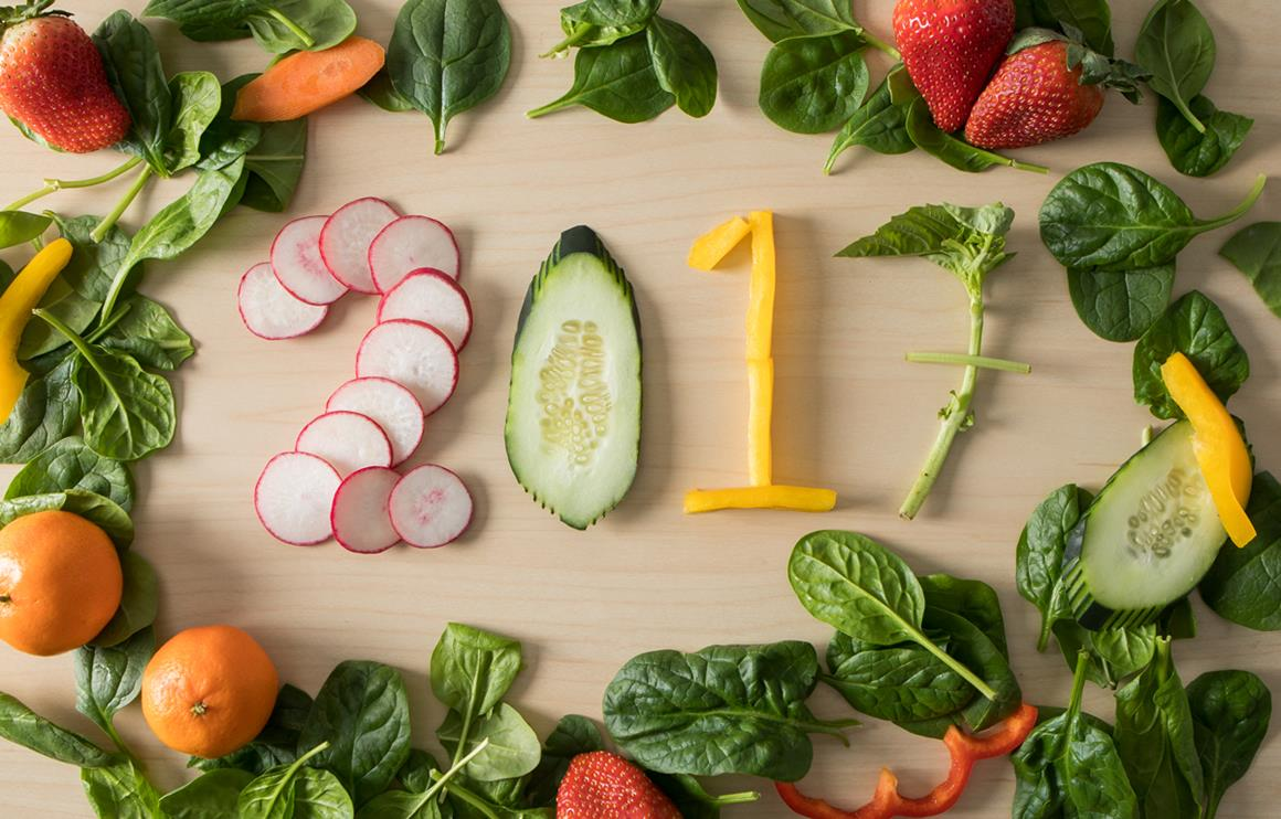 2017 written in vegetables