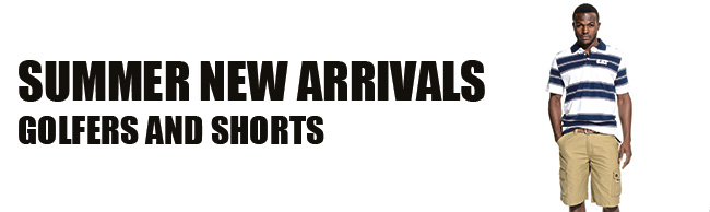 Summer New Arrivals, Golfers And Shorts